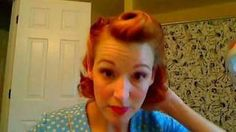 Victory Rolls on Short (Bobbed) Hair...1940's Reverse Rolls Hairstyle, via YouTube.