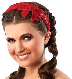 Wizard of OZ Rubie's Costume Co Adult Dorothy Red Sequin Bow Headband