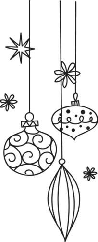 Baubles in Scribbles | Urban Threads: Unique and Awesome Embroidery Designs