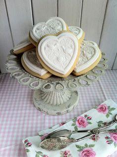 Fabsfood: Cookies para una boda/ Springerle-like fondant cookies