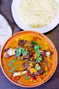 Falling-apart tender Lamb Shank tagine with chickpeas and apricots.