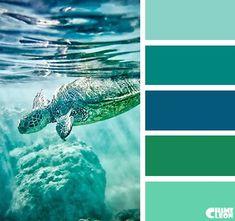 Ocean Color Palette, Paint Color Palettes, Ocean Colors, Colour Pallette, Colour Schemes, Color Combos, Paint Colors, Sea Colour, Theme Color