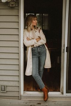 Jean Outfits, Casual Outfits, Fashion Outfits, Cold Weather Fashion, Winter Fashion, Madewell Denim, Vintage Jeans, Jeans Style, Winter Outfits