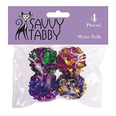 Savvy Tabby Mylar Balls Cat Toys, 4-Packs -- Check out this great article.