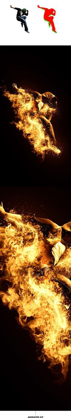 Gif Animated Fire 2 Photoshop Action by sreda | GraphicRiver