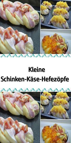 Small ham and cheese yeast braids- Kleine Schinken-Käse-Hefezöpfe I have never had a better yeast dough in my hand. The braids hadn& cooled down properly and they were gone! Donut Recipes, Cheese Recipes, Keto Recipes, Snack Recipes, Keto Donuts, Baked Donuts, Yummy Snacks, Healthy Snacks, Dessert Sans Gluten