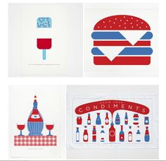 Love these modern, graphic kitchen prints  + tea towels for the home. Or fantastic hostess gifts.