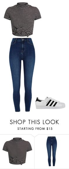 """""""Untitled #54"""" by xlexiraex on Polyvore featuring River Island and adidas"""