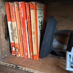 Orange and vintage - a perfect combination. #berkhamsted #homeandcolonial #vintage #penguinbooks
