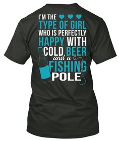 It's all I need! :)  Shirt available at http://cutencountrystore.com/collections/featured/products/beerandfishing