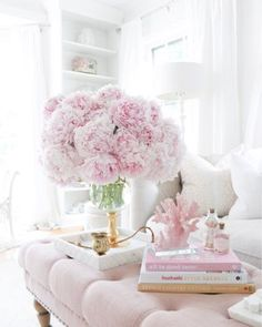 Ballerina birthday party and DIY ballet bar. Tulle Poms, Tulle Tutu, Pom Poms, Tulle Skirt Tutorial, Living Room Decor, Bedroom Decor, Ballerina Birthday Parties, Decorating Coffee Tables, Pink Peonies