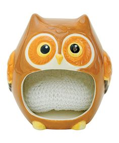 This Owl Friend Scrubby Holder is perfect! #zulilyfinds