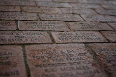Bricks at Fenway Park