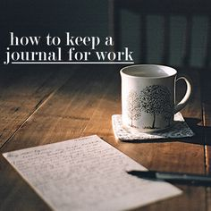 how to keep a journal at work