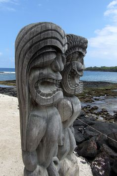 Keeping Watch....  Pu'uhonau o Honaunau, Place of Refuge, Big Island, Hawaii hawaiianforyou.com