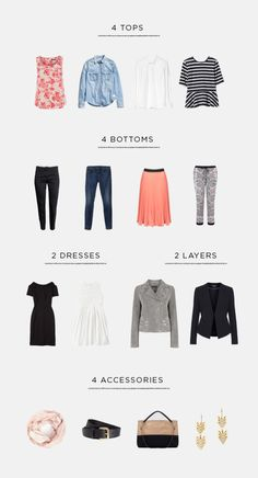 Streamline your wardrobe will make getting dressed in the morning so much easier!