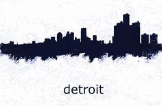 City Skylines, Detroit Michigan, Cities, Movie Posters, Art, Art Background, Film Poster, City, Kunst