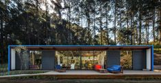Built on a farm in the country outside of São Paulo, Brazil, the OZ House. Prefab Homes, Small Living, Tiny House, Cabin, Architecture, House Styles, Building, Outdoor Decor, Summer