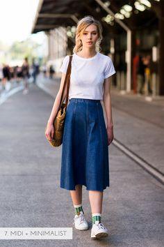 10 ways to wear a denim skirt | Kittenhood