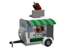 Movie-accurate Bob's Kabob Stand (with LDD file) - Special LEGO Themes - Eurobricks Forums Lego Camper, Lego Food, Restaurant Service, Micro Lego, Lego Vehicles, Lego Modular, Crafts For Girls, Batmobile, Lego Brick