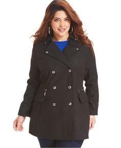 a-line pea coat – plus size   clothes i eventually want