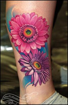 I  love this idea of the gerbera daisies but with a lot less color  Mostly black and gray with a hint of color