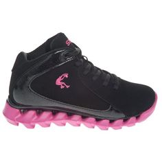Shaq Girls' Triple Threat Mid-Top Basketball Shoes - One of the few non-Jordan girls' basketball shoes I found.  She loves them and the price is right!