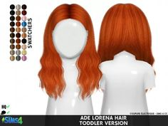 Sims 4 Hairs ~ Coupure Electrique: AdeDarma`s Lorena hair retextured - Handlettering Geburtstag Sims 4 Toddler Clothes, Sims 4 Cc Kids Clothing, Sims 4 Mods Clothes, Children Clothing, Sims 4 Game Mods, Sims Mods, Sims 4 Cc Skin, Sims Cc, The Sims 4 Bebes