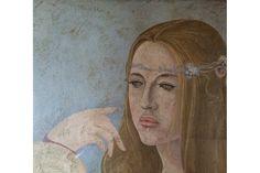 "Rebekka Modlen, émigré artist and seminal figure of Soviet Nonconformist Art history, passes away at 80. 11/14.   ""Portrait of Alessandra."""