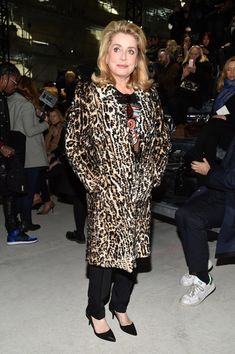Catherine Deneuve at Saint Laurent - PFW Fall 2017: The Can't-Miss Celeb Looks from the FROW - Photos