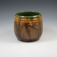 Weller Pine Cone Blended Glaze Jardiniere | Proxibid Auctions
