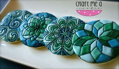Mandala cookies by Brynn @ Craft Me A Cookie