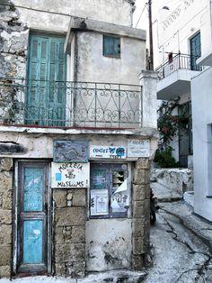 Chora (town) of Skyros island, Sporades, Aegean sea, Greece Mediterranean Sea, Greece Travel, Greek Islands, Island Life, Continents, Art Work, Beautiful Places, Landscapes, Europe
