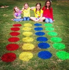 Outdoor Twister! A great summer outdoor activity for you and the kids. #summer