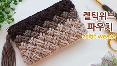 Crochet pouch celtic weave stitch _by adele – Knitting Models and Suggestions Crochet Backpack Pattern, Crochet Wallet, Crochet Tote, Crochet Handbags, Crochet Purses, Crochet Bag Tutorials, Crochet Videos, Crochet Designs, Crochet Patterns