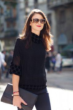 #black #street #style #fashion #look