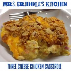 Three Cheese Chicken Casserole- S meal- Trim Healthy Mama