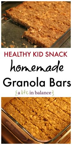 Healthy Kid Snack: Homemade Granola Bars