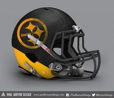 Pittsburgh Steelers - NFL Concept Helmet by Paul Bunyan Design
