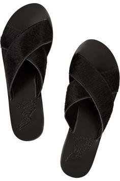 Ancient Greek Sandals|Thais calf hair sandals
