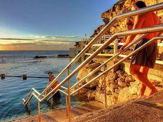 6 of Sydney's Best Offbeat Neighborhoods Melbourne, Sydney, Bronte Beach, Beach Rocks, Rock Pools, The Neighbourhood, Typography, Explore, Travel
