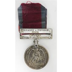 Waterloo Military Medal. The Waterloo Medal was awarded to all British soldiers who took part in the series of battles against the French which ended with the Battle of Waterloo itself on 18th June, 1815. On one side of the medal is the head of George, the Prince Regent (who became King George IV in 1820) and on the other the Angel of Victory. his medal was won by a soldier from Monymusk, Aberdeenshire who fought at Waterloo. He was Sergeant Lewis Beggs of the Sutherland Highlanders.