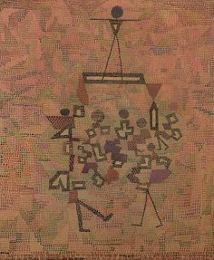 Paul Klee (1879-1940), Überbrücktes (Bridged), 1931 (153). Pencil and watercolour. 60.7cm H x 50.5cm W.
