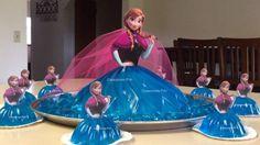 Gelatina princesa Anna o Elsa en 3 leches