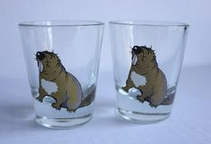 Vintage Beaver Shot Glasses, Set of 2, by Treasure Realm