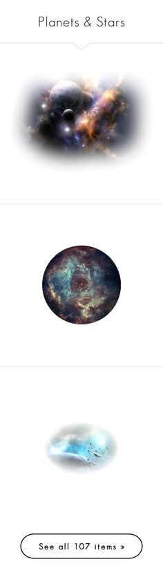 """""""Planets & Stars"""" by eivissa1 ❤ liked on Polyvore featuring tubes, backgrounds, effects, sky, space, fillers, circles, pictures, circle crops and round"""