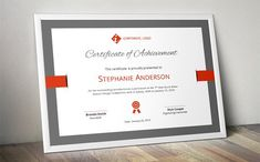 Elegant certificate template (docx) by Inkpower on @creativemarket