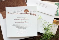 Letterpress Wedding Invitation - SAMPLE - Country Farm, Rustic on Etsy, $1.00