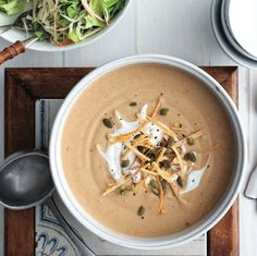 French Delicacies Essentials - Some Uncomplicated Strategies For Newbies You'll Be Eating This Cozy Roasted Cauliflower Vegetable Soup All Winter. Cauliflower Vegetable, Roasted Vegetable Soup, Cauliflower Soup Recipes, Roasted Cauliflower, Cauliflower Tacos, Best Soup Recipes, Fall Recipes, Easy Dinner Recipes, Healthy Recipes