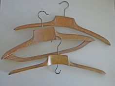 Clothes hangers vintage French wood hangers by Histoires on Etsy, $60.00 #hangers #histoires #etsy